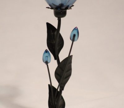 Single Blue flower Tealight Holder