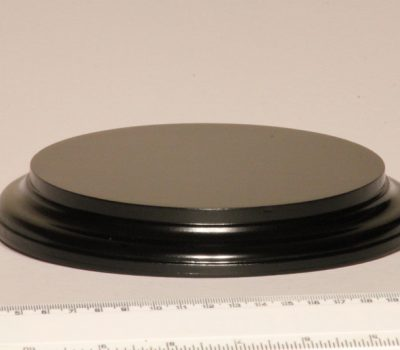 Black Round Base 150mm x25mm
