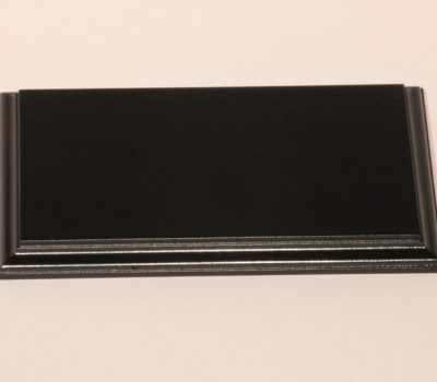 Black Rectangular Base Flat 135mm x 225mm x 18mm