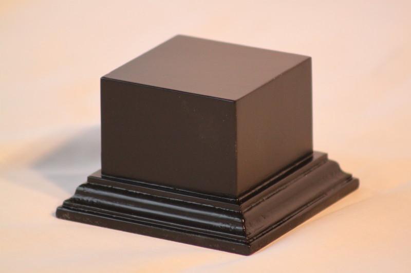 Square Plinth Base Black Satin
