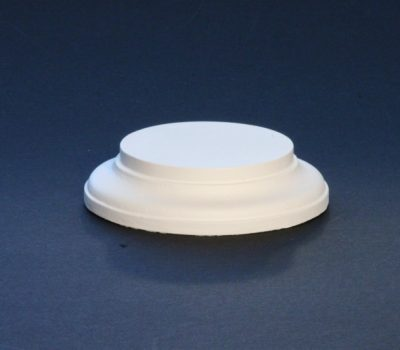 Black Round Base 75mm x 25mm