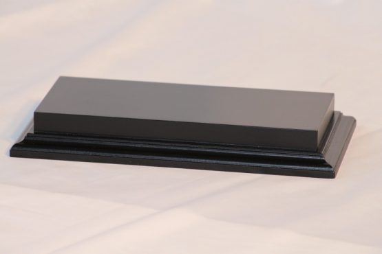 Raised Top rectangular Base in Satin Black 100mm x 250mm