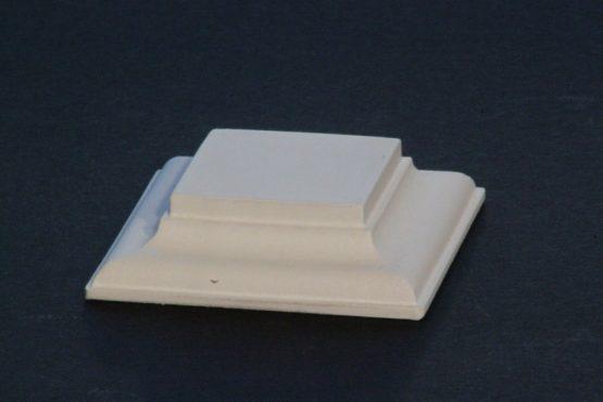 Black Square Base Flat 35mm x35mm x 15mm