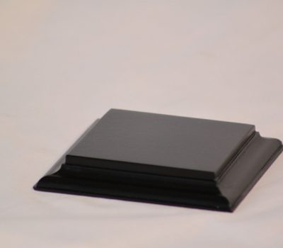 Black Square Base Flat 75mm x75mm x 18mm
