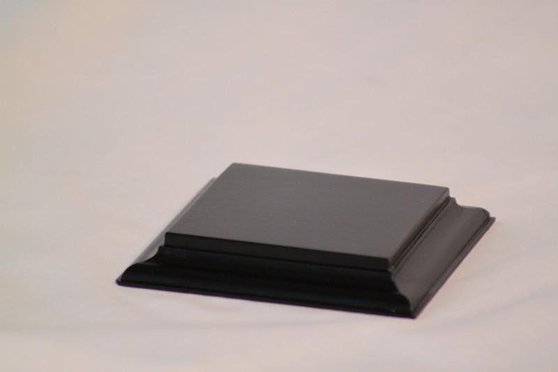 Black Square Base Flat 75mm x75mm x 18mm