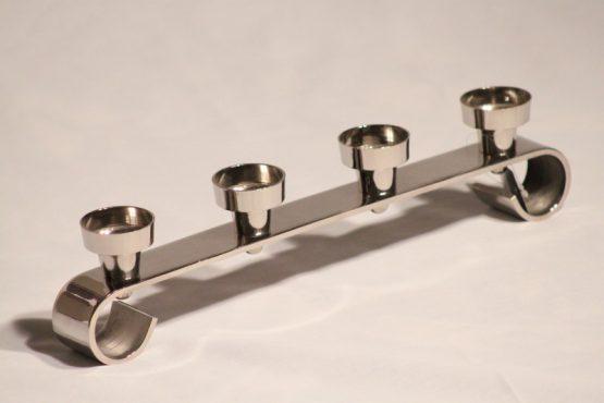 Aluminium 4 piece tea-light holder
