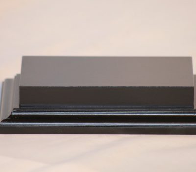 Raised Top rectangular Base in Satin Black 80mm x 150mm