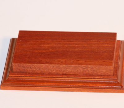 Raised Top rectangular Base Mahogany 80 x 125