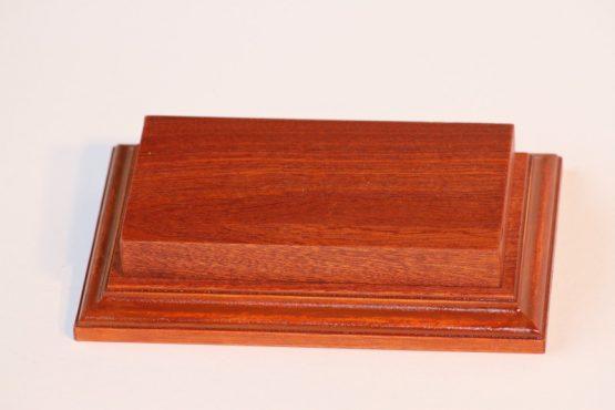 Raised Top rectangular Base Mahogany 80 x 125