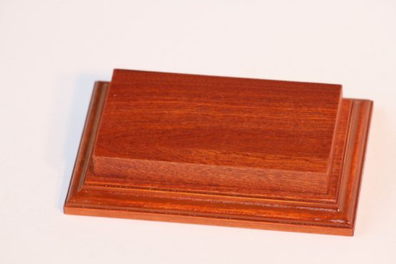 Raised Top rectangular Base Mahogany 80 x 150