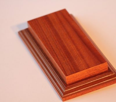 Raised Top rectangular Base Mahogany 80 x 200