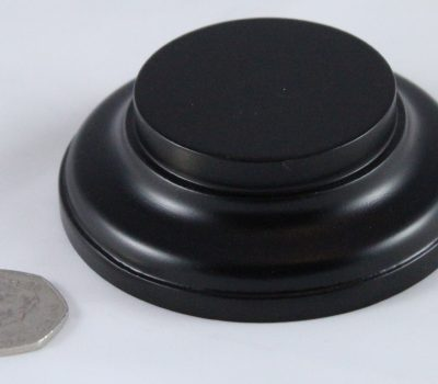 Black Round Base 50mm x 25mm