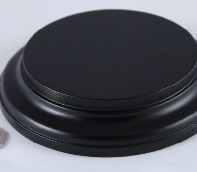 Black Round Base 100mm x 25mm