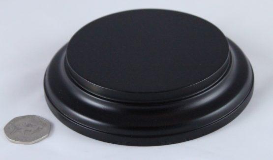 Black Round Base 100mm x 25mm