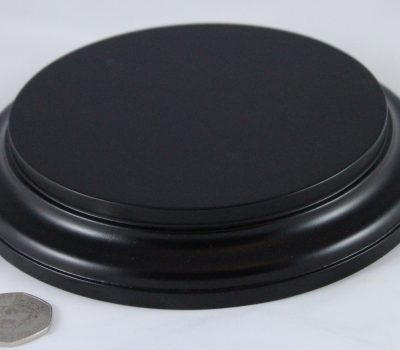 Black Round Base 125mm x 25mm