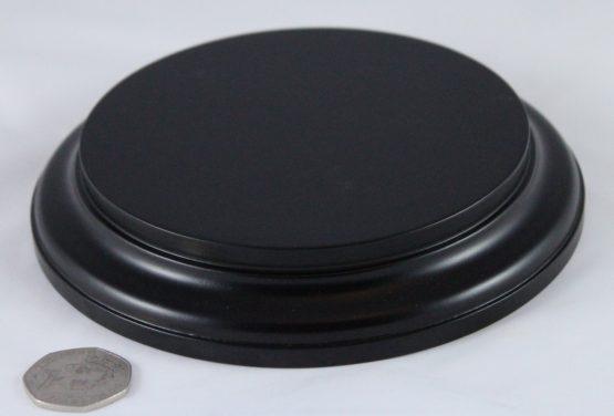 Black Round Base 125mm x 25mm