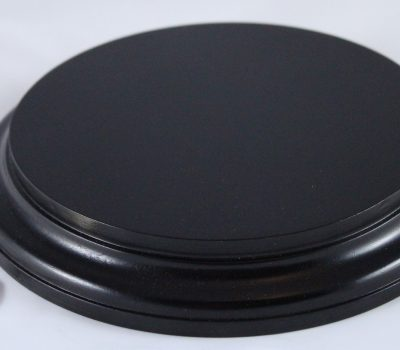 Black Round Base 175mm x 25mm