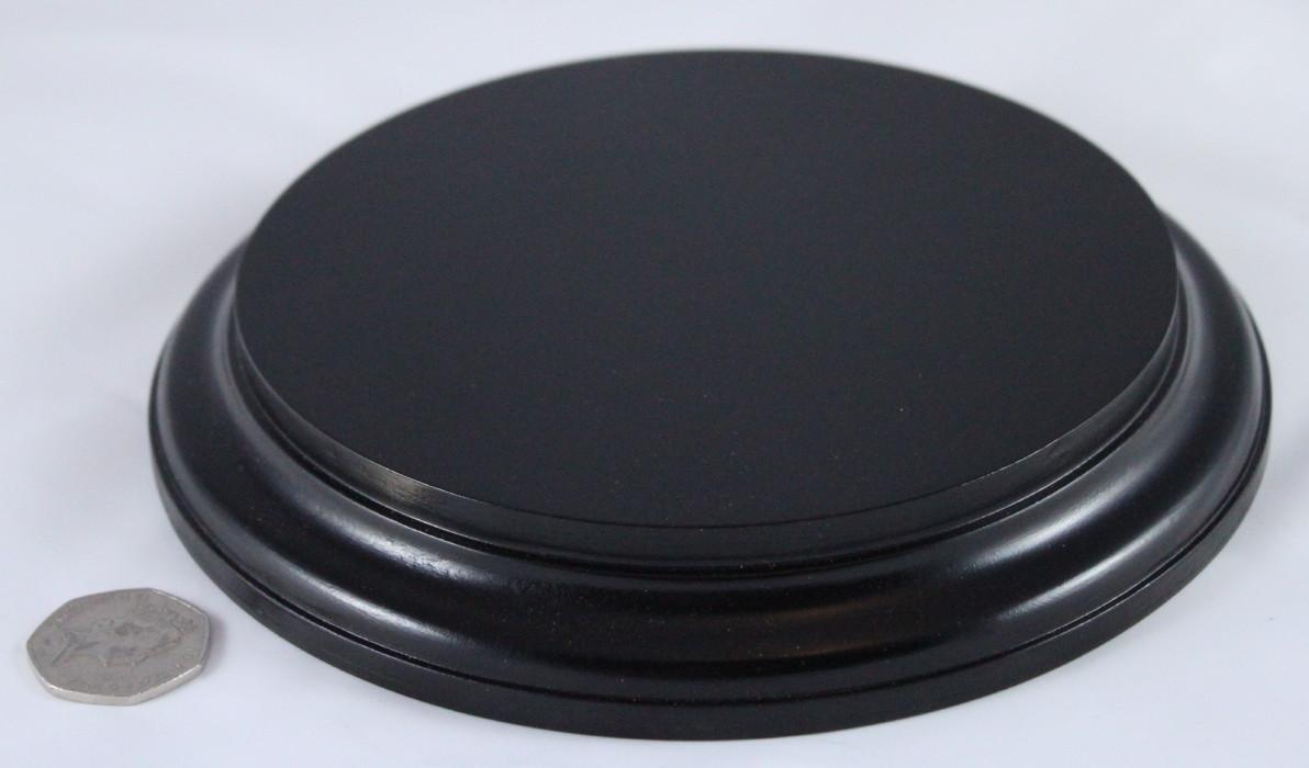 Black Round Base 175mm x 25mm