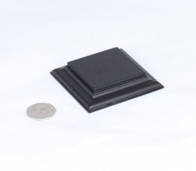 Black Square Base Flat 55mm x55mm x 15mm