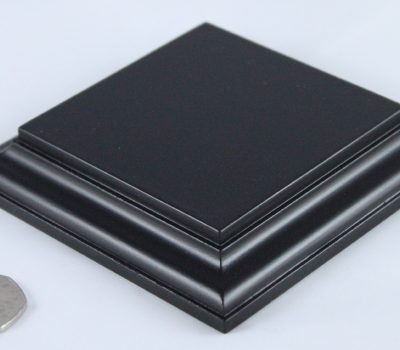 Black Square Base Flat 100mm x100mm x 18mm