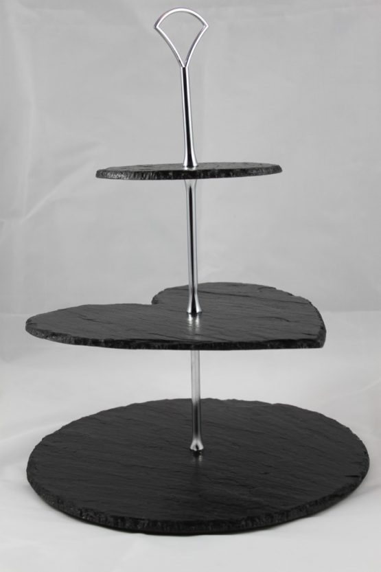 Cake Stand Three Tier Circle with Heart