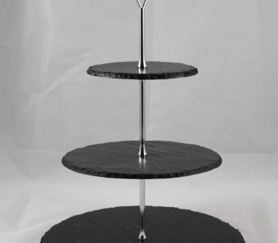Slate Cake Stand Round Three Tier