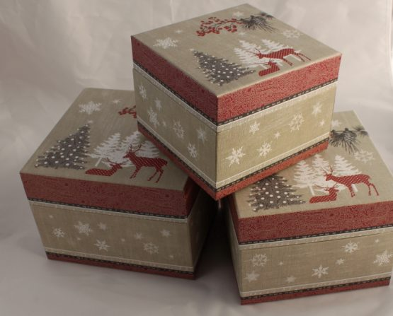 Noel Noel Nest Of Three Different Size Gift Boxes