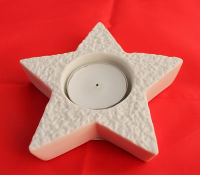Star Porcelain Tea Light holder