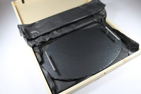 Medium Black Oval Slate Tray