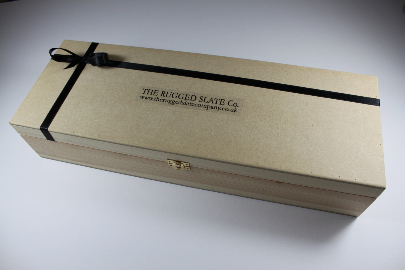 Small black tray with stainless handles oblong