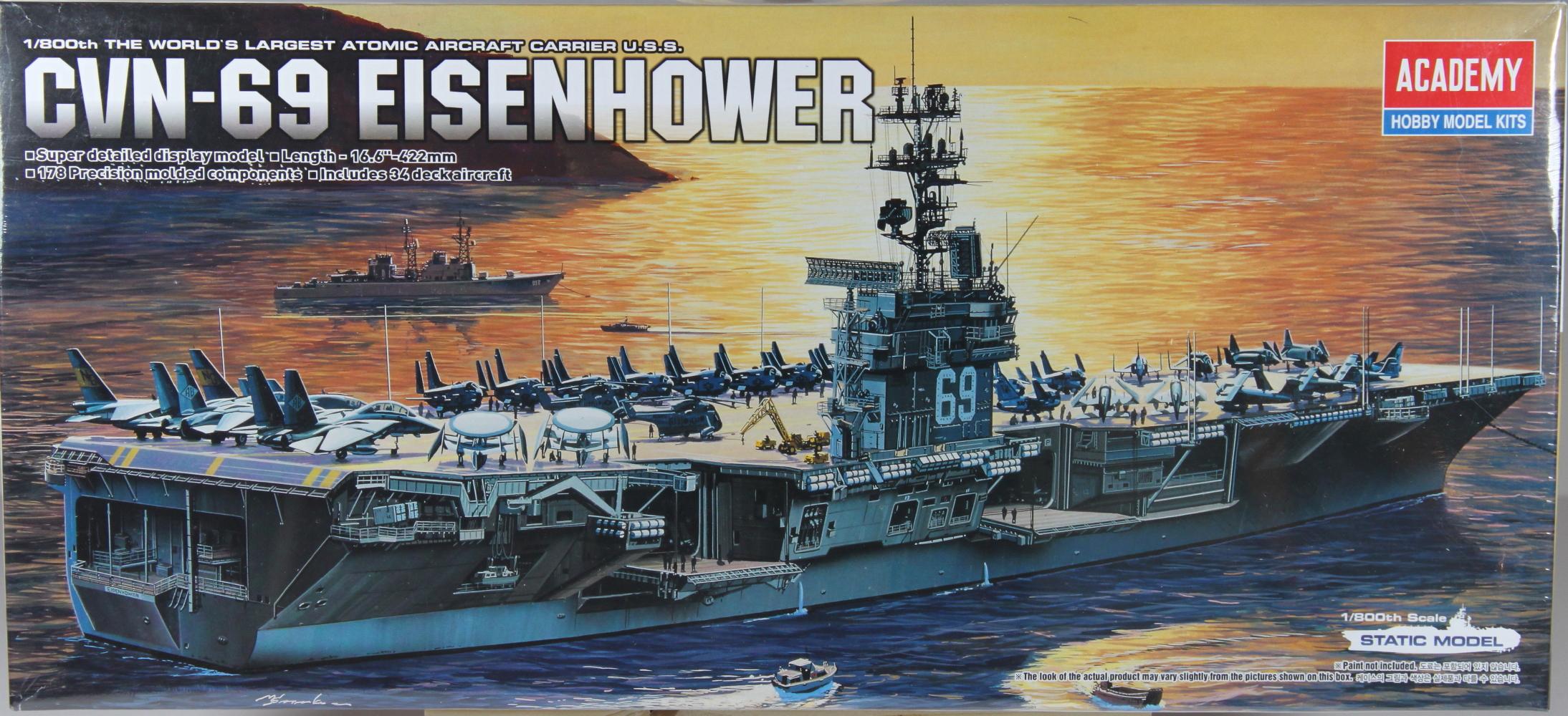 AIRCRAFT CARRIER - USS EISENHOWER  (1:800)