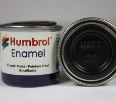 BLACK MATT ENAMEL PAINT 14ml