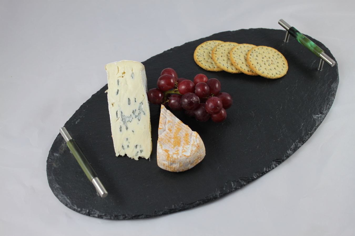 Medium Black Oval Slate cheeseboard