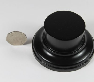 Black MDF Round Base with 25mm upstand 50 mm Diameter