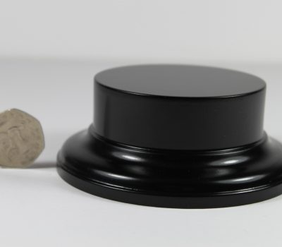 Black MDF Round Base with 25mm upstand and 75mm display area