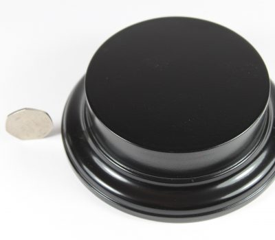 Black MDF Round Base with 25mm upstand and a 100mm Display Area