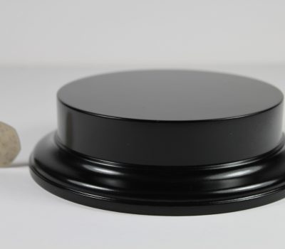 Black MDF Round Base with 25mm upstand and 120mm Display Area