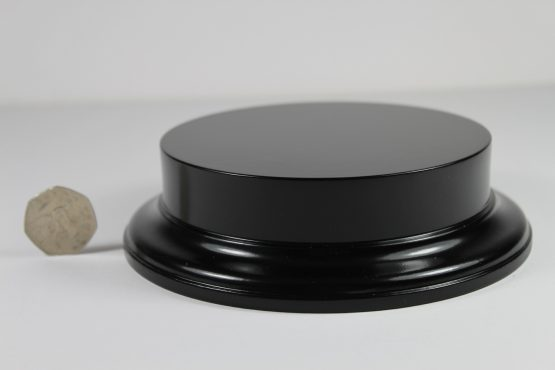Black MDF Round Base with 25mm upstand and 125mm Display Area