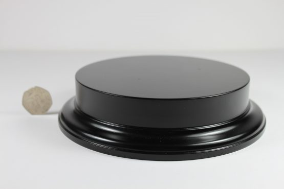 Black MDF Round Base with 25mm upstand and 150mm Display Area