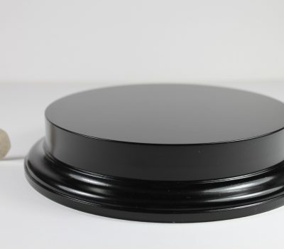 Black MDF Round Base with 25mm upstand and 175mm Display Area