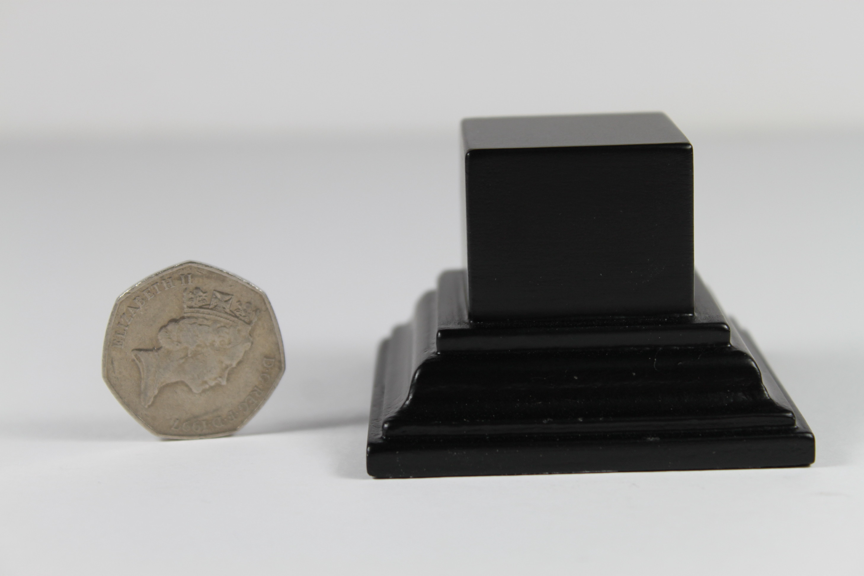 Square Plinth Base Black Satin 32mm x 32mm