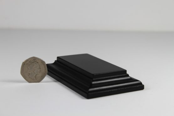 Rectangular Base Black Satin Small 40 x 80 x 15