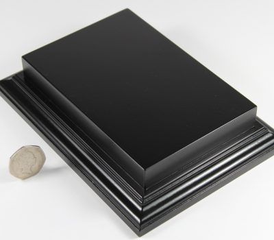 Raised Top rectangular Base in Satin Black 100mm x 150mm
