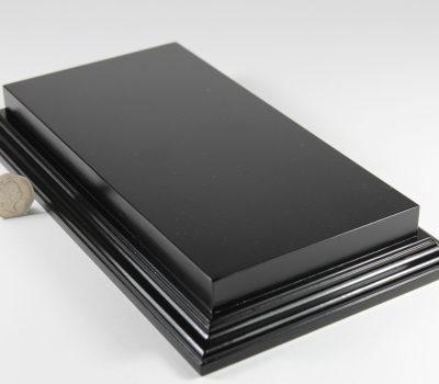 Raised Top rectangular Base in Satin Black 125mm x 250mm