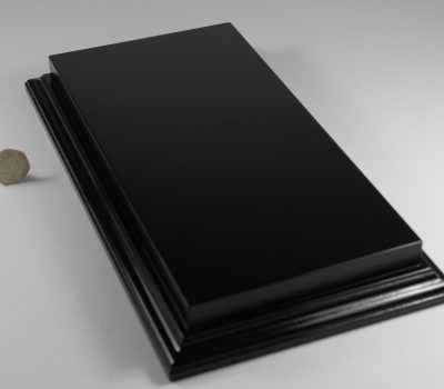 Raised Top rectangular Base in Satin Black 125mm x 300mm