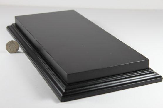 Raised Top rectangular Base in Satin Black 150mm x 350mm