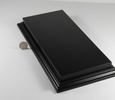 Raised Top rectangular Base in Satin Black 150mm x 350mm