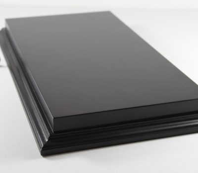 Raised Top rectangular Base in Satin Black 200mm x 400mm