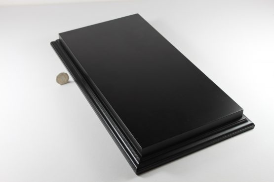 Raised Top rectangular Base in Satin Black 200mm x 400mm