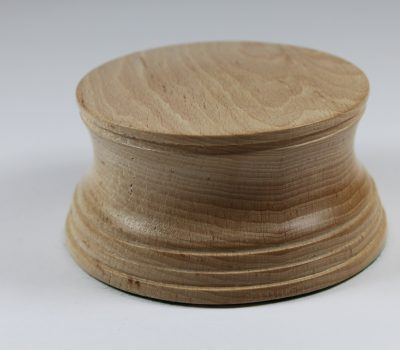 Hand Turned Solid Beech Model / Trophy Base, Height 45mm, Display Area 90mm